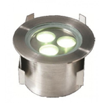 SUL13 LED inground uplighter 3w 316 stainless steel 500x500150